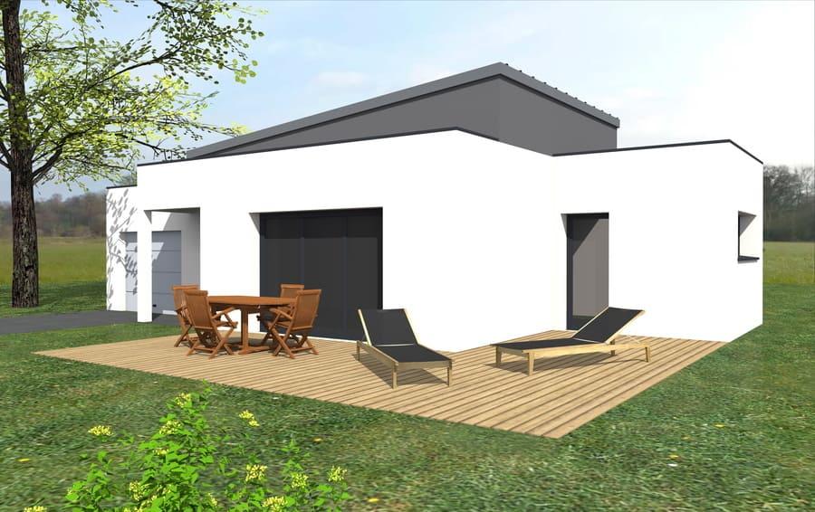 gt plans dessin plans 3d arrière maison à Treillieres