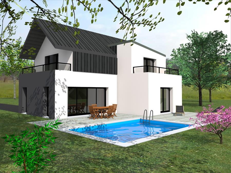 gt plans dessin plans 3d arrière maison en Loire Atlantique