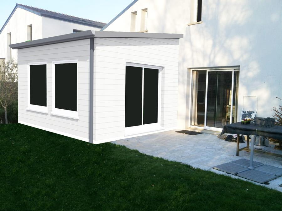 gtplans dessin 3d extension maison à Treillieres