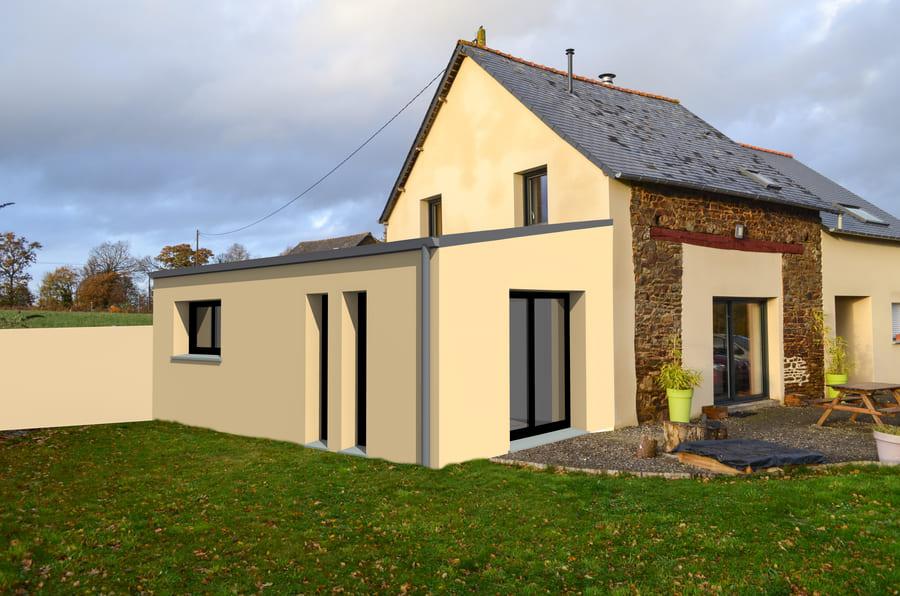 gtplans dessin 3d extension maison à Orvault