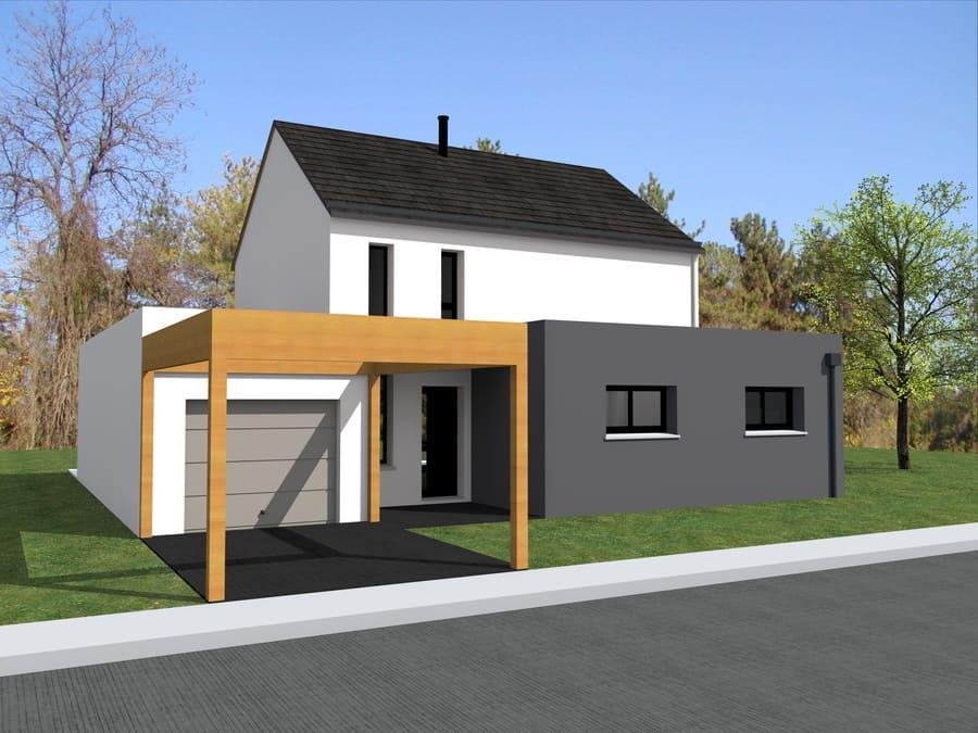 gt plans dessinateur 3d maison avec porche à St Herblain