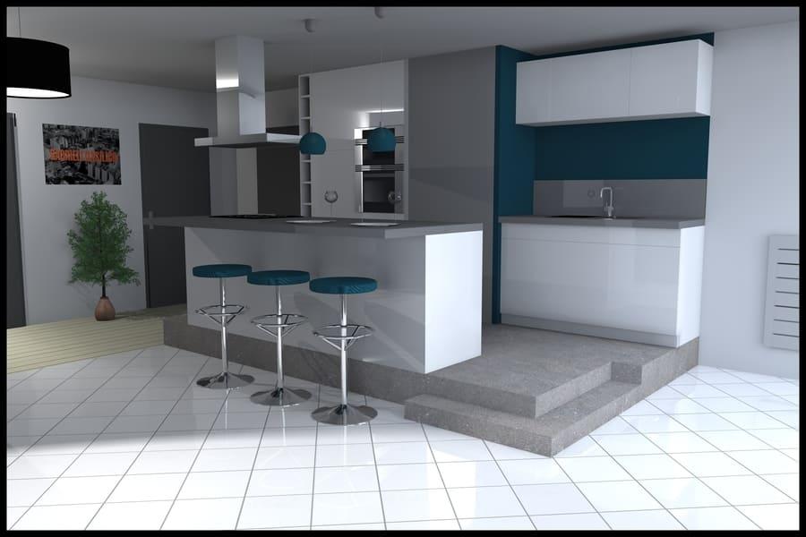 gt plans dessin plan 3d intérieur rénovation cuisine