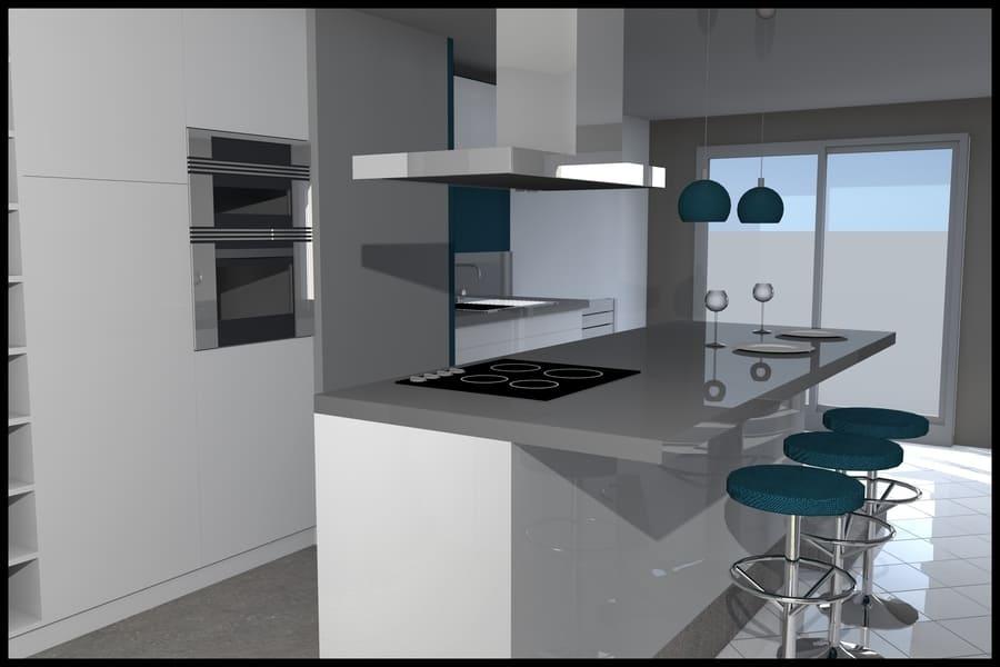 gt plans dessin plan 3d intérieur rénovation cuisine à Nantes